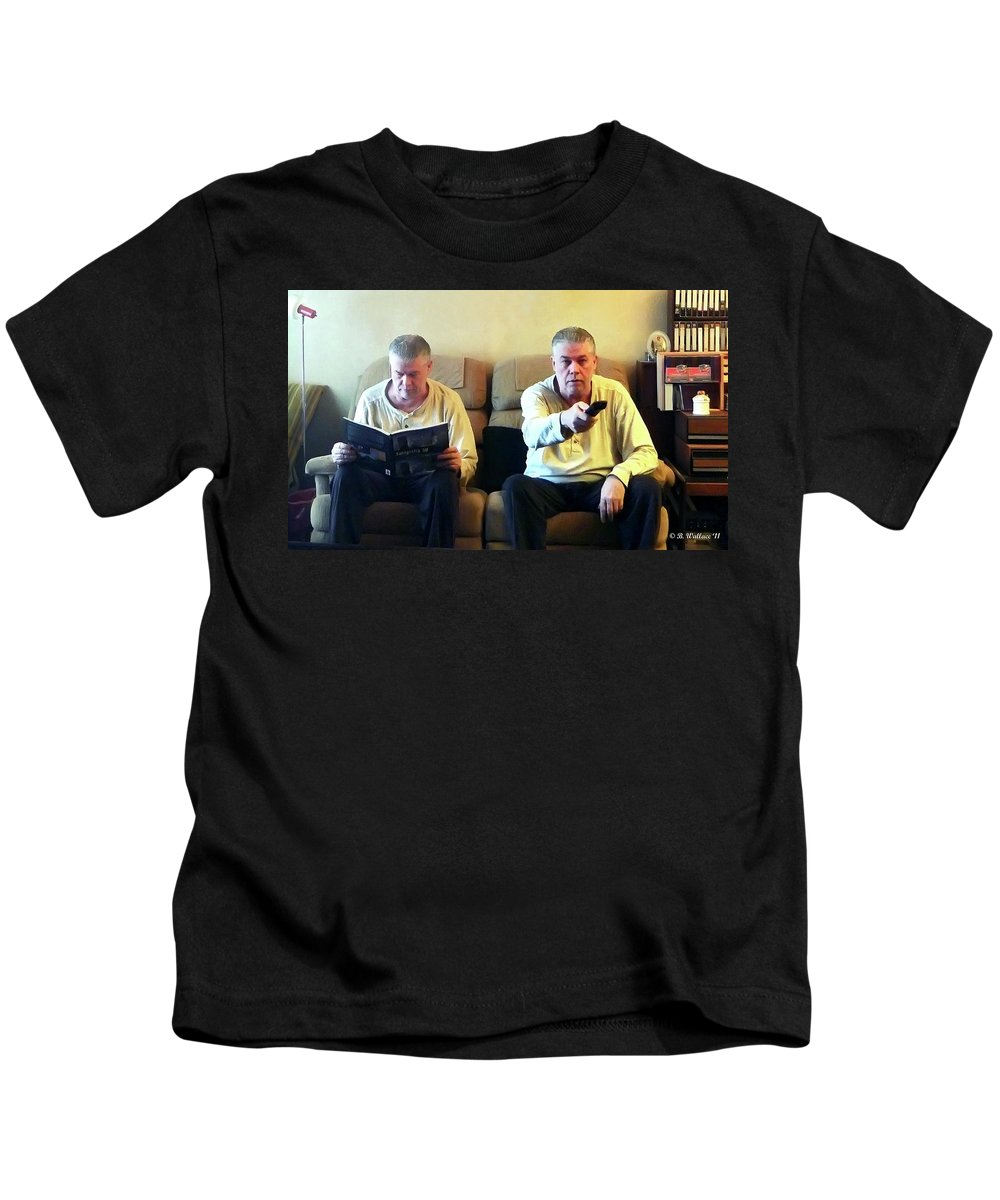 2d Kids T-Shirt featuring the photograph Beside Myself by Brian Wallace