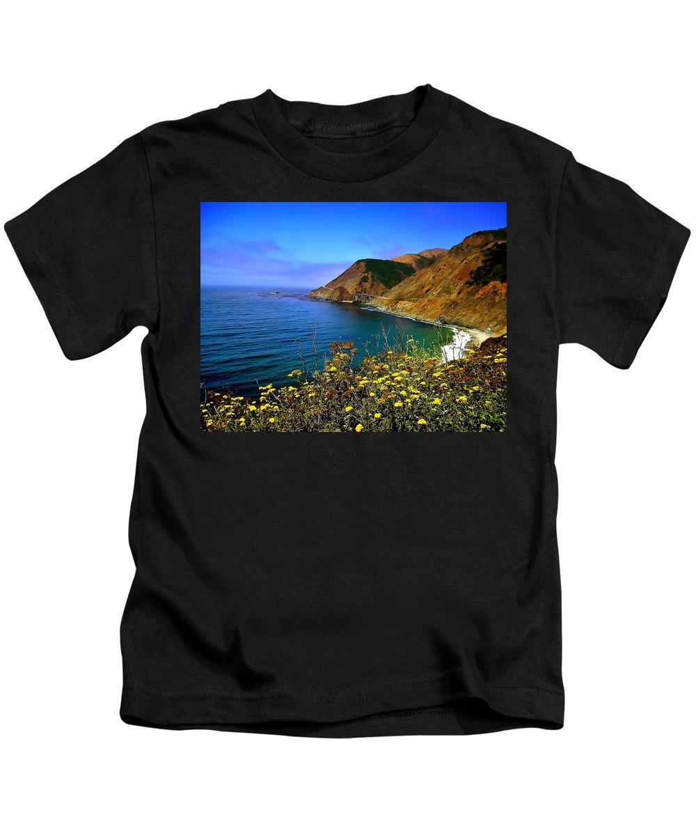 Big Sur Kids T-Shirt featuring the photograph Big Sur I by Ellen Heaverlo