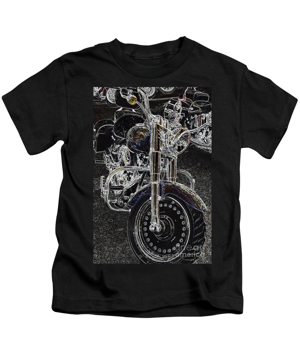 Motorcycle Kids T-Shirt featuring the photograph Big Willy Style by Anthony Wilkening