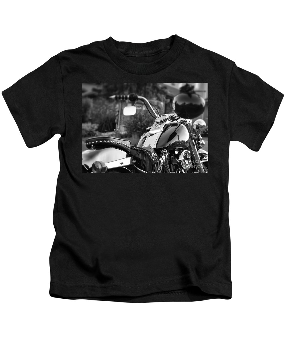 Motorcycle Kids T-Shirt featuring the photograph Bike Me Too by Traci Cottingham