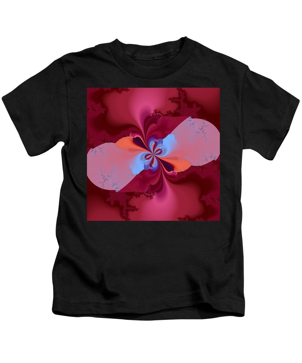 Pink Kids T-Shirt featuring the digital art Blooming Color by Christy Leigh