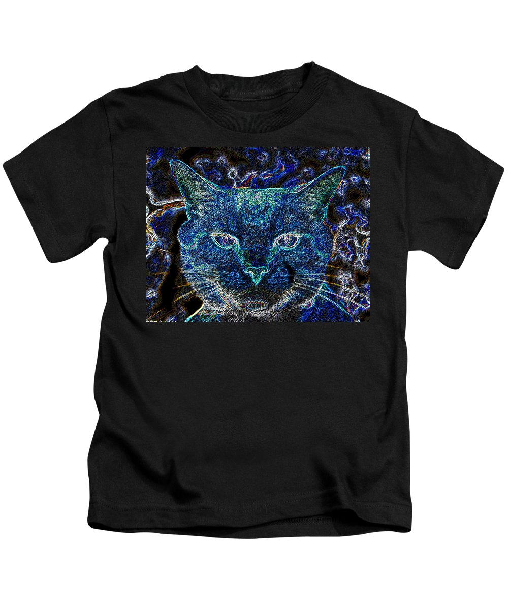 Art Kids T-Shirt featuring the painting Blue Boy by David Lee Thompson