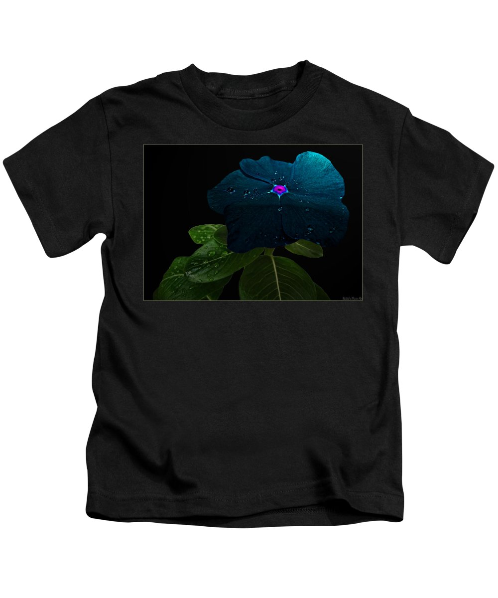 Nature Kids T-Shirt featuring the digital art Blue Jean Impatient by Debbie Portwood