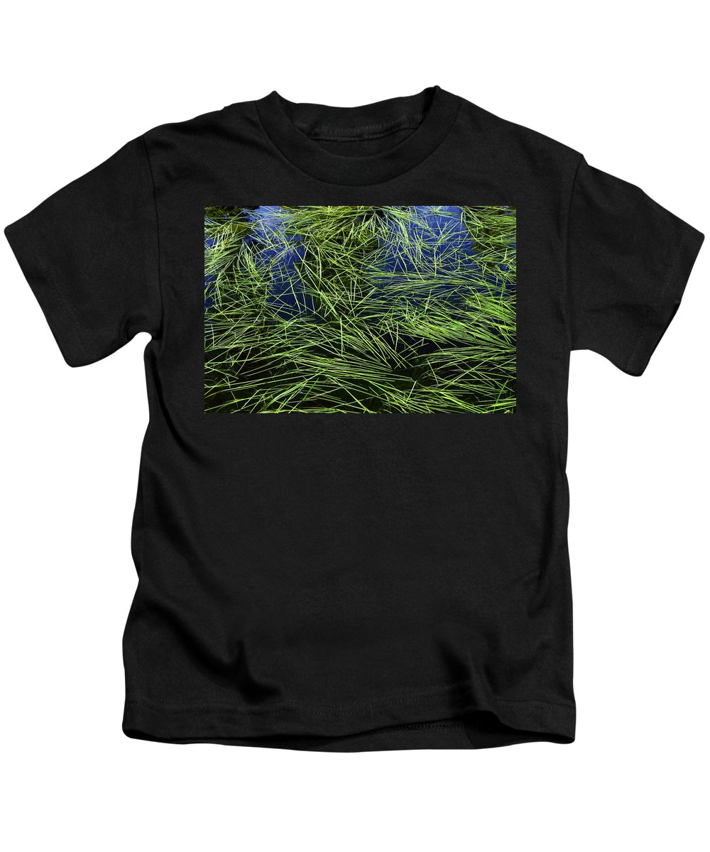 Glacier National Park Kids T-Shirt featuring the photograph Blue Water Green Grass Glacier National Park by Rich Franco