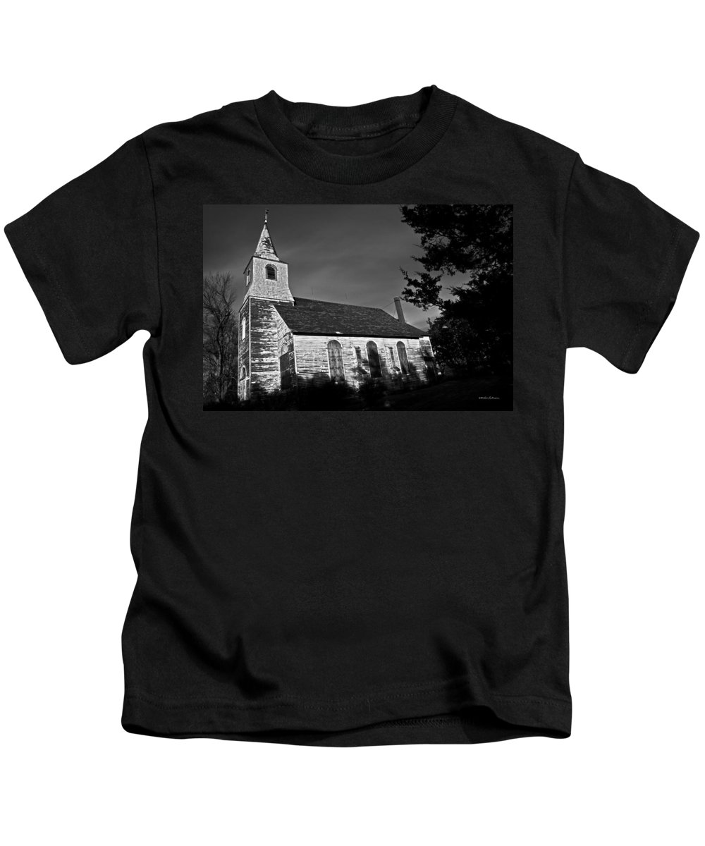 Churches Kids T-Shirt featuring the photograph Boarded Up by Edward Peterson
