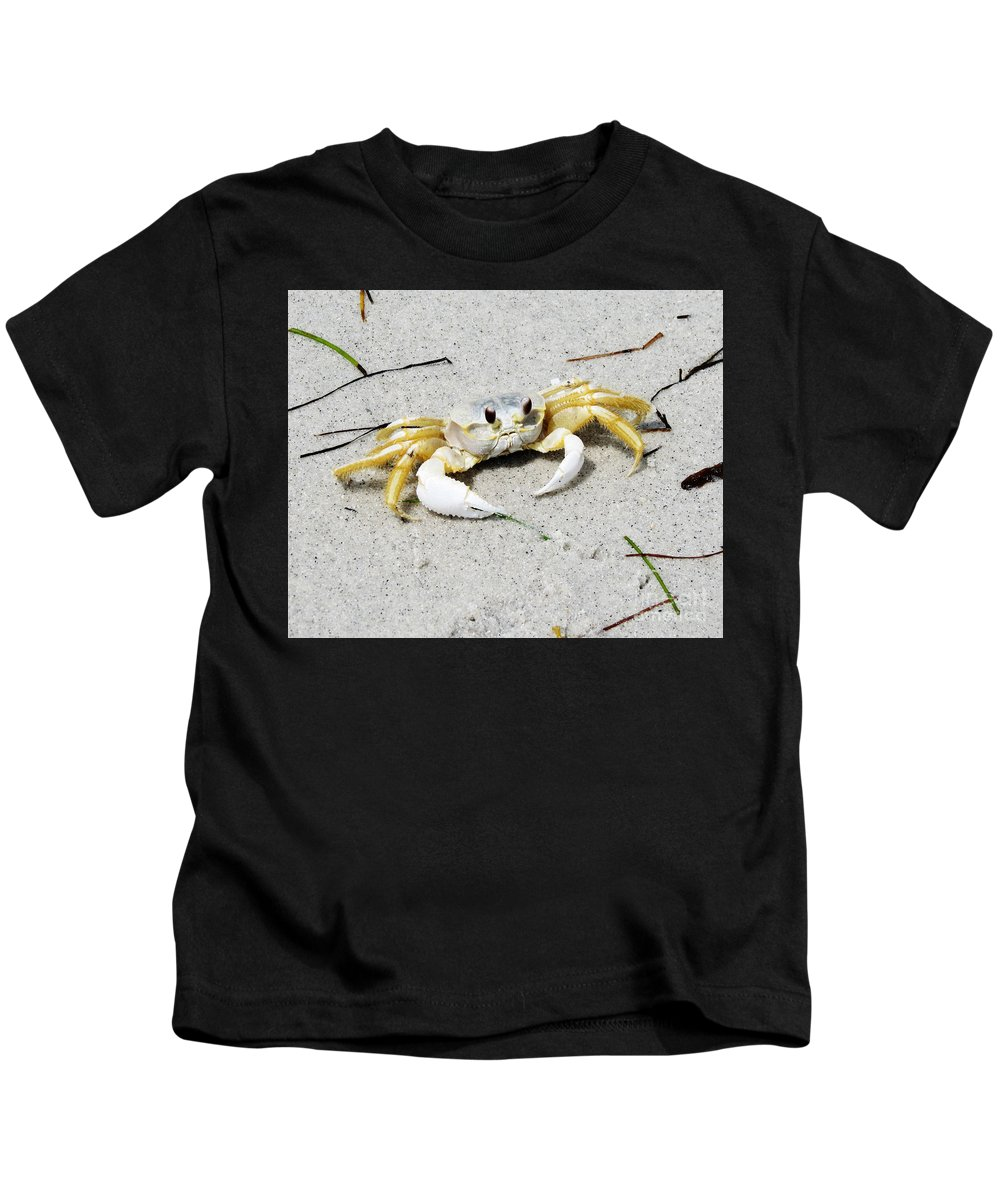 Florida Kids T-Shirt featuring the photograph Boca Grande Crab by Chris Andruskiewicz