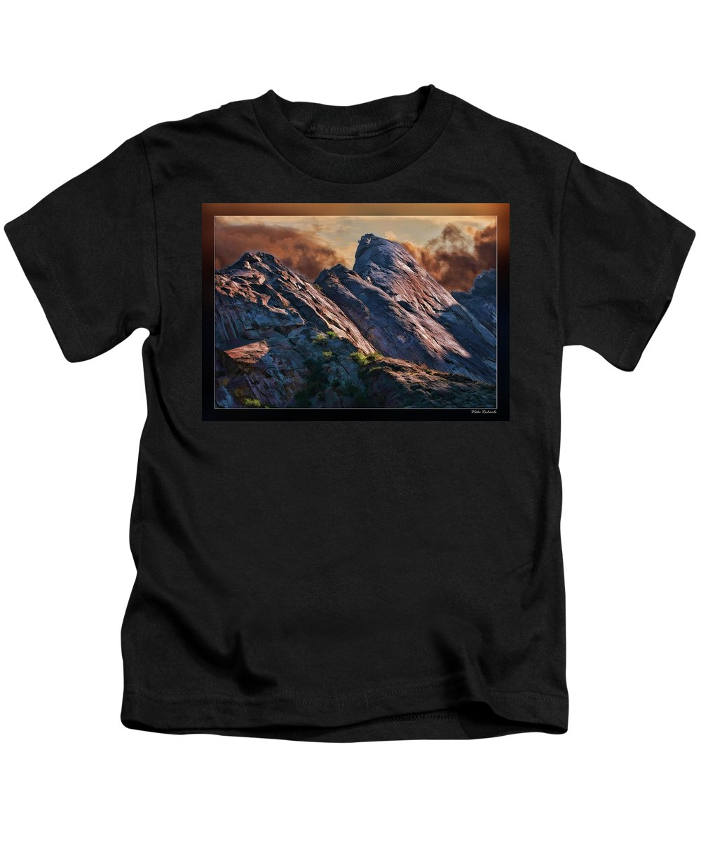 Art Photography Kids T-Shirt featuring the photograph Bold Boulders by Blake Richards
