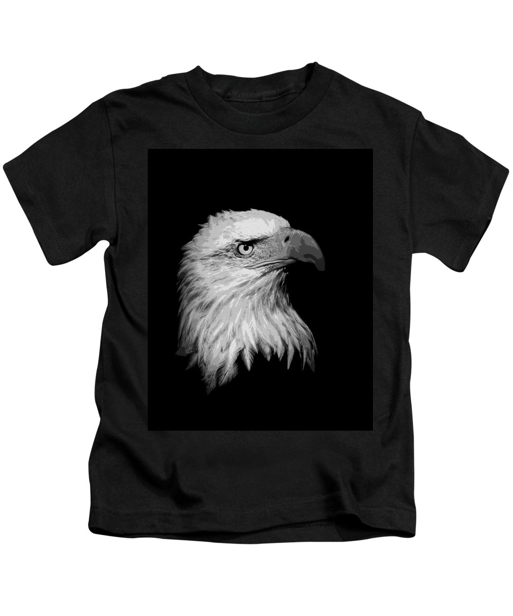 Eagle Kids T-Shirt featuring the photograph Bold Eagle by Steve McKinzie