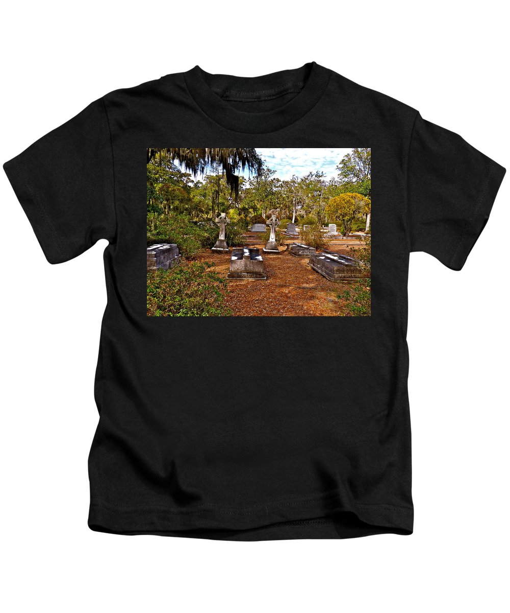 Cemetery Kids T-Shirt featuring the photograph Bonaventure by Catherine Conroy