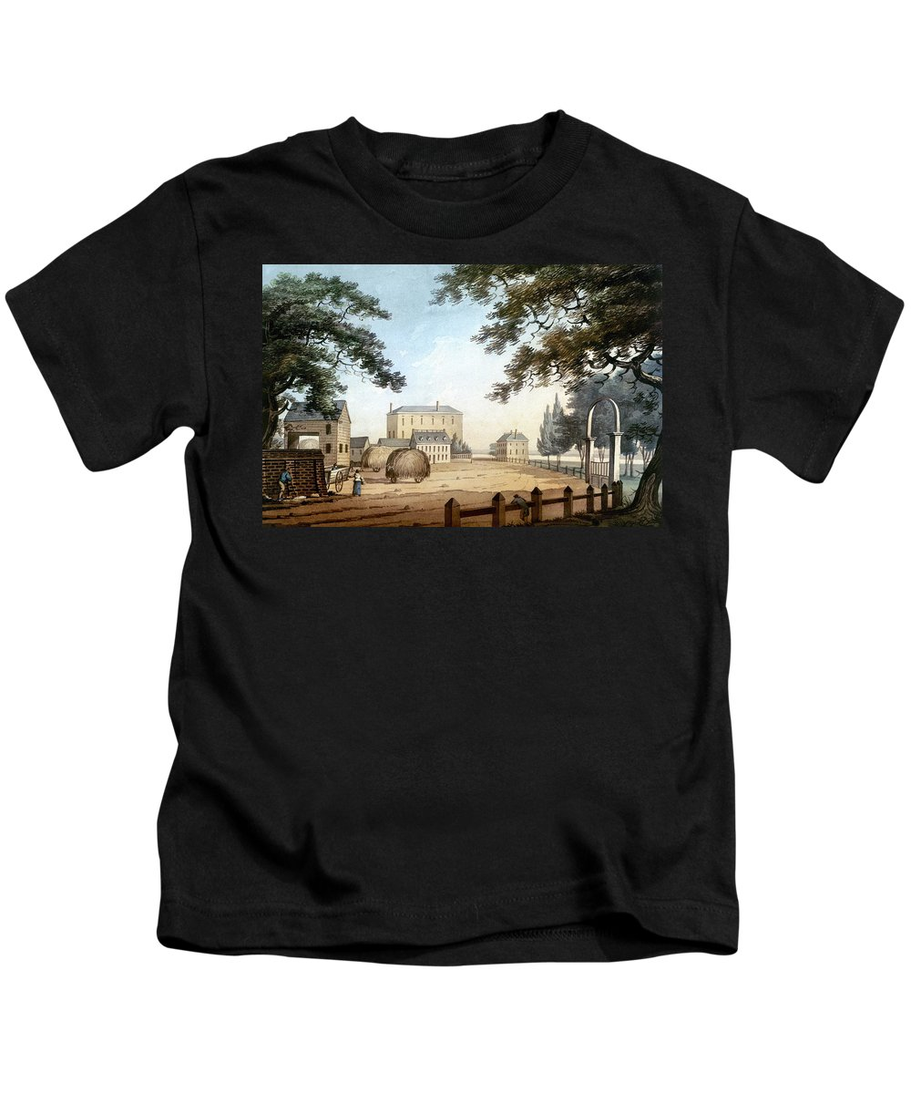 1798 Kids T-Shirt featuring the photograph Boston: Theater, 1798 by Granger
