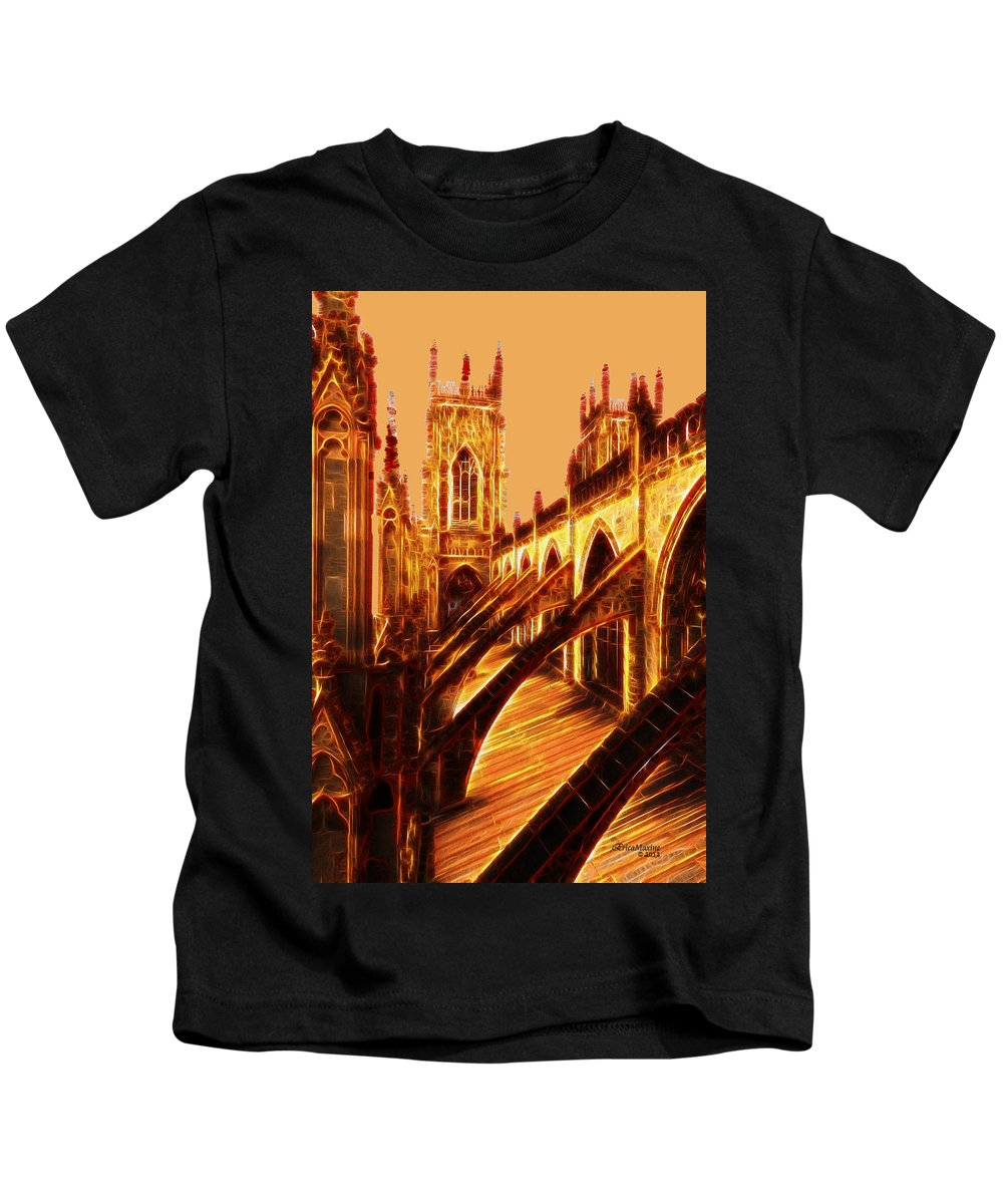 Architecture Kids T-Shirt featuring the photograph British Christian Cathedral by Ericamaxine Price