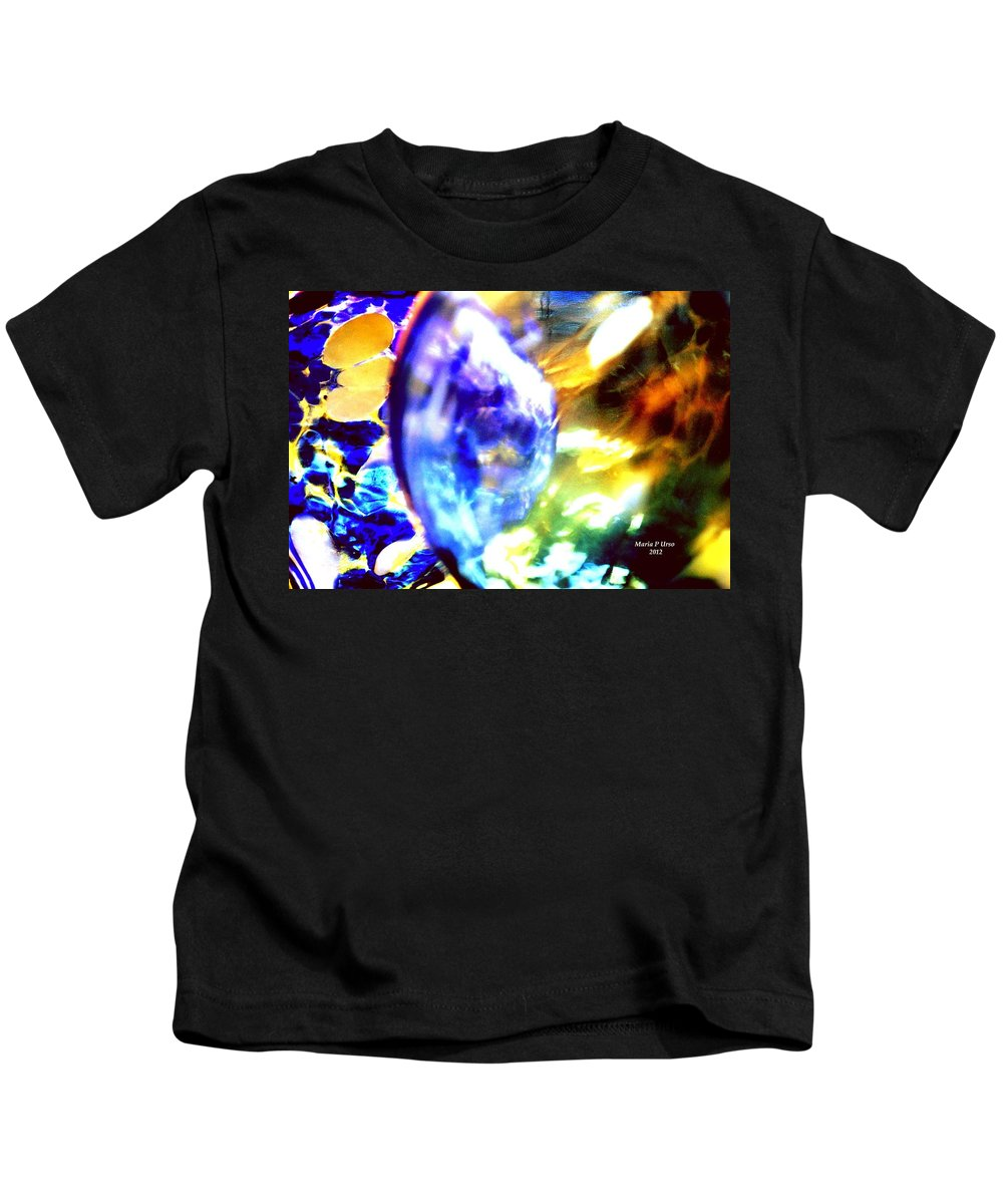 Bubble Kids T-Shirt featuring the digital art Bubble Abstract 001 by Maria Urso