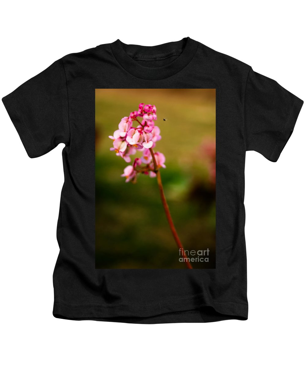 Flower Kids T-Shirt featuring the photograph Bug And Bud Love by Syed Aqueel