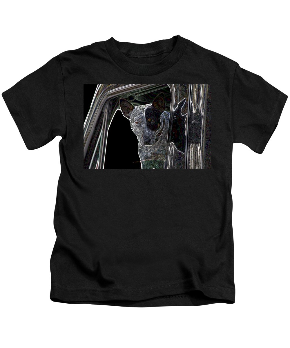 Bull Terrier Kids T-Shirt featuring the photograph Bull Terrier by One Rude Dawg Orcutt