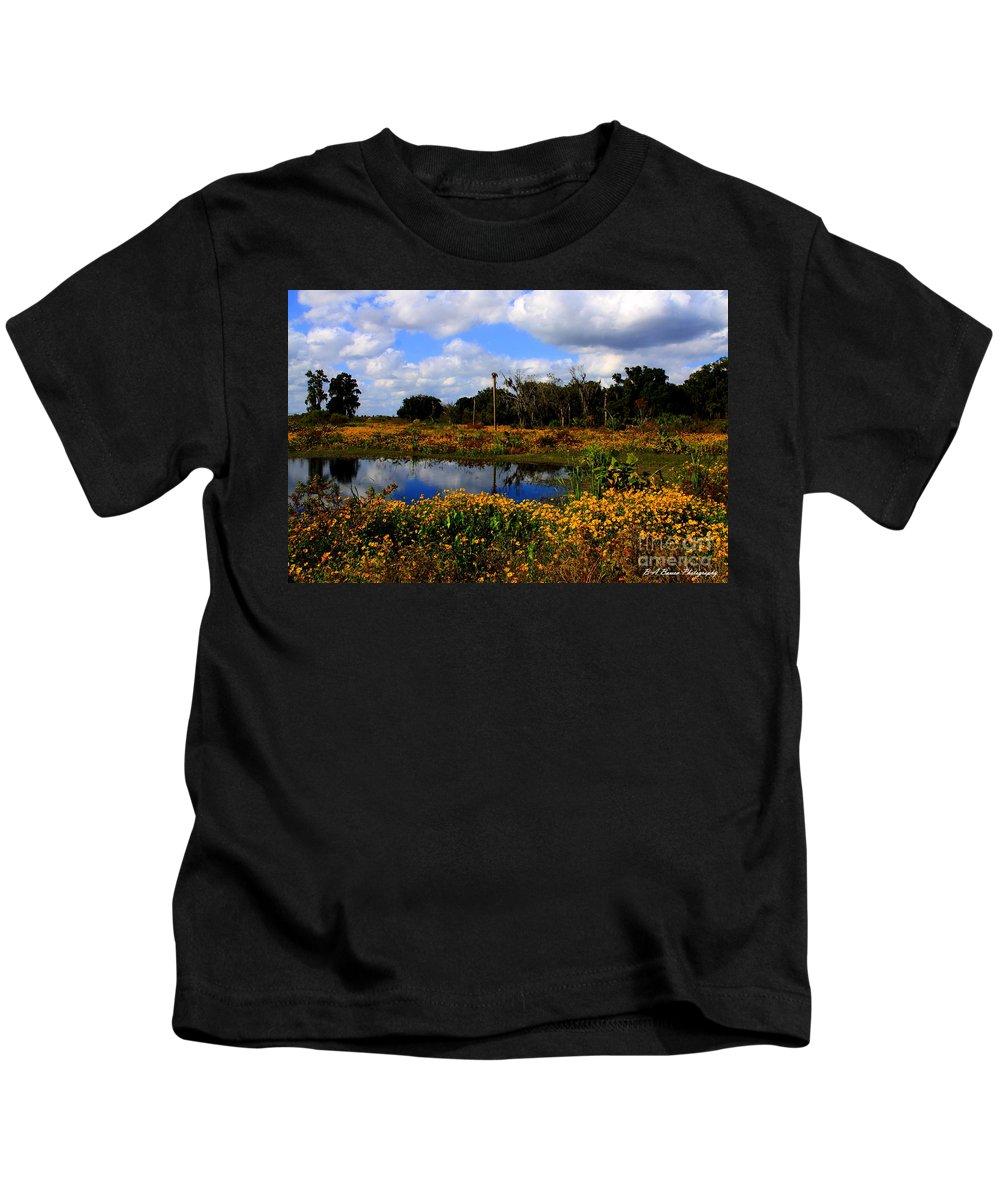 Burmarigold Kids T-Shirt featuring the photograph Burmarigold Bliss by Barbara Bowen