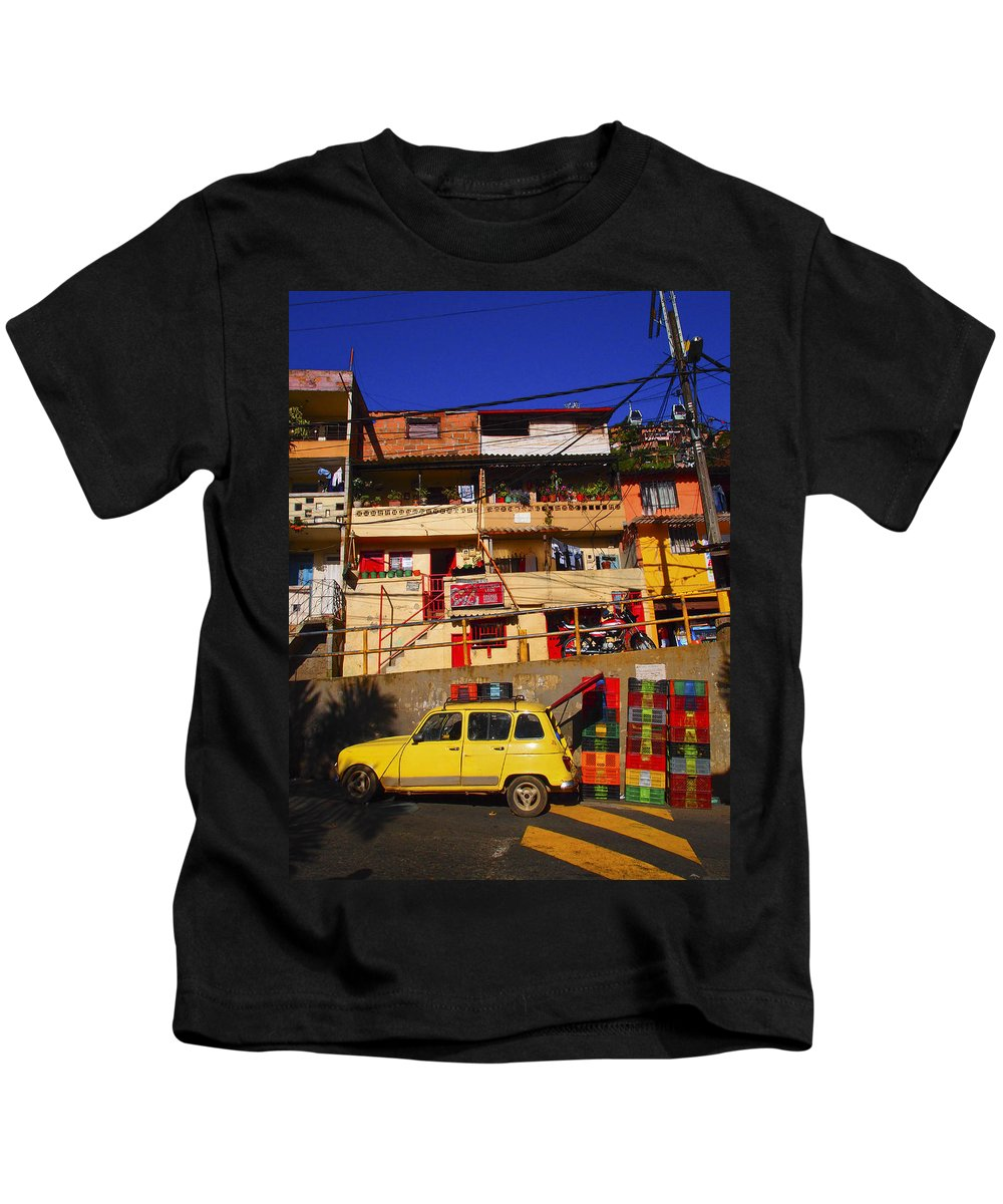 Cafeteria Leos Kids T-Shirt featuring the photograph Cafeteria Leos by Skip Hunt