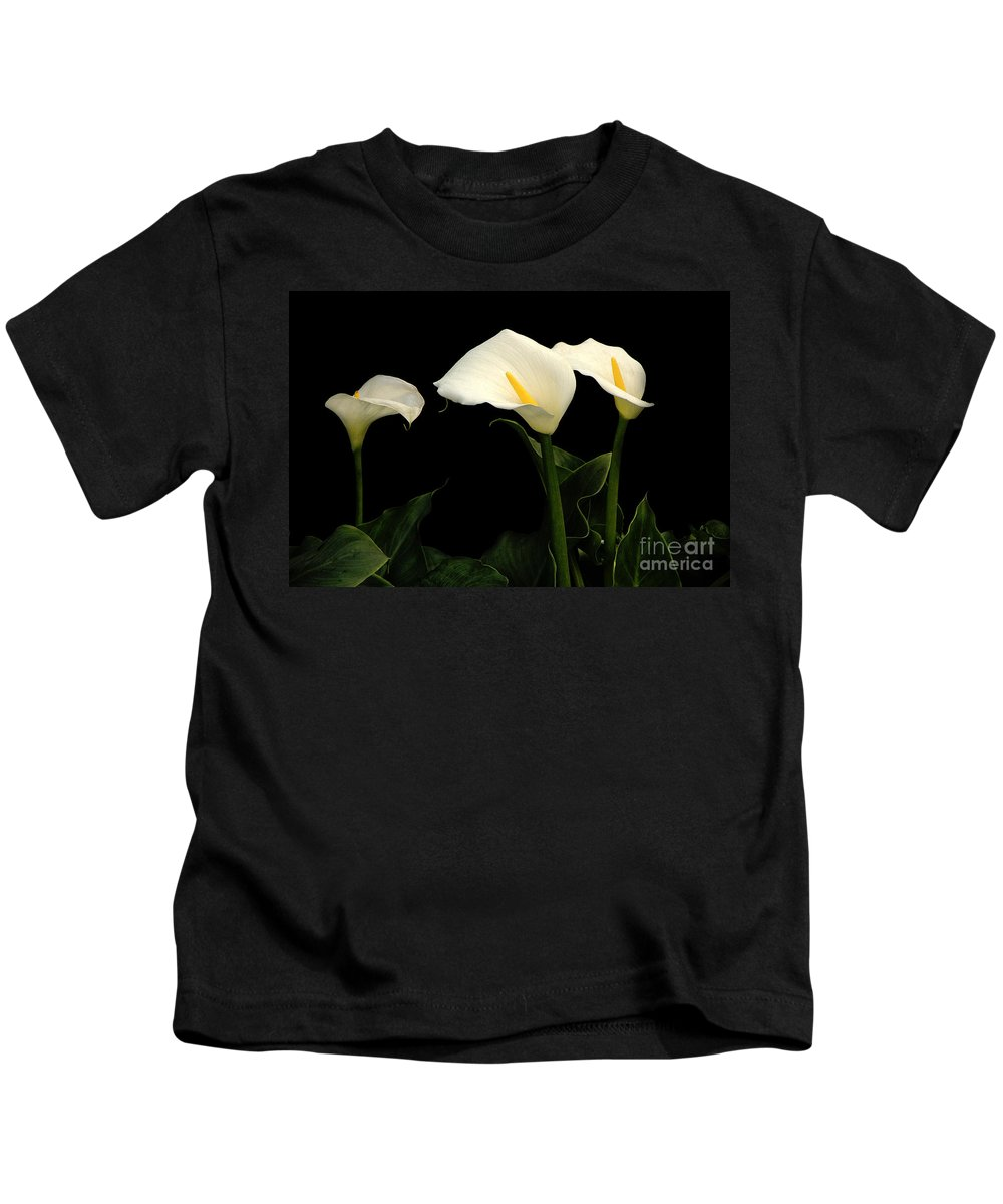 Calla Lilies Kids T-Shirt featuring the photograph Calla Lilies by Mike Nellums