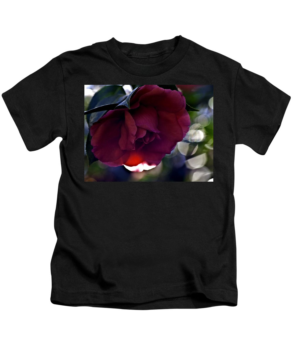 Camellia Kids T-Shirt featuring the photograph Camellia Twenty-six by Ken Frischkorn