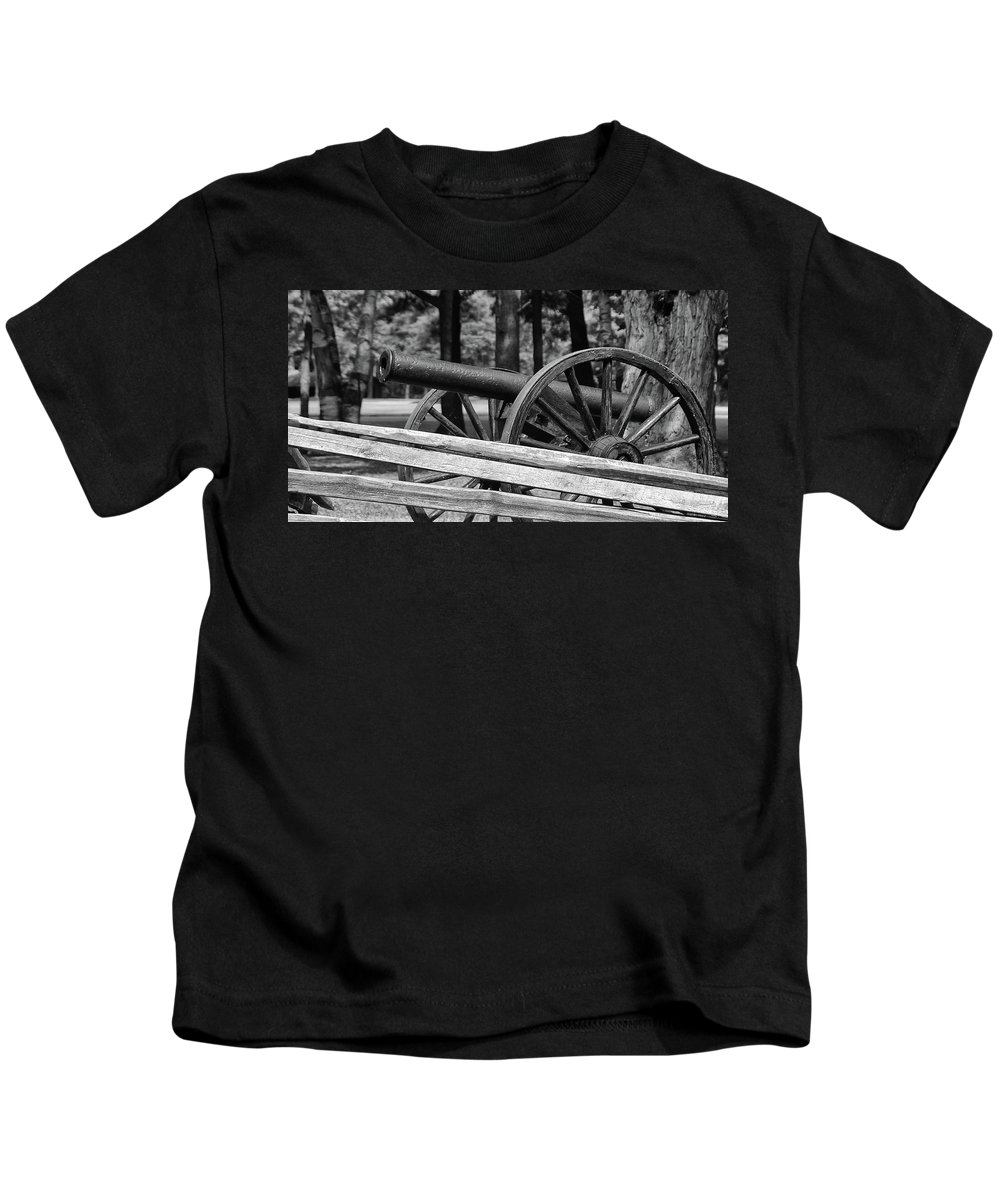 Cannon Kids T-Shirt featuring the photograph Cannon by Guy Whiteley