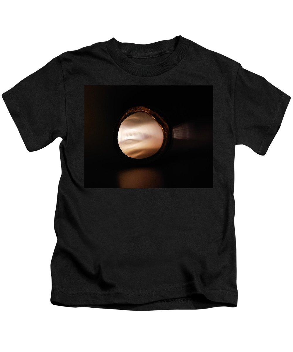 Abstract Kids T-Shirt featuring the photograph Captive Glow by Susan Capuano