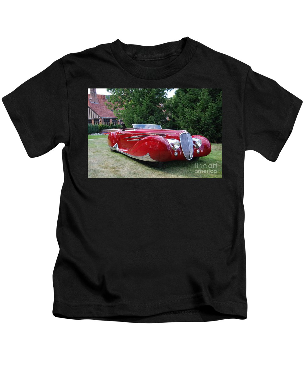 Automobile Kids T-Shirt featuring the photograph Car At Meadowbrook by Grace Grogan