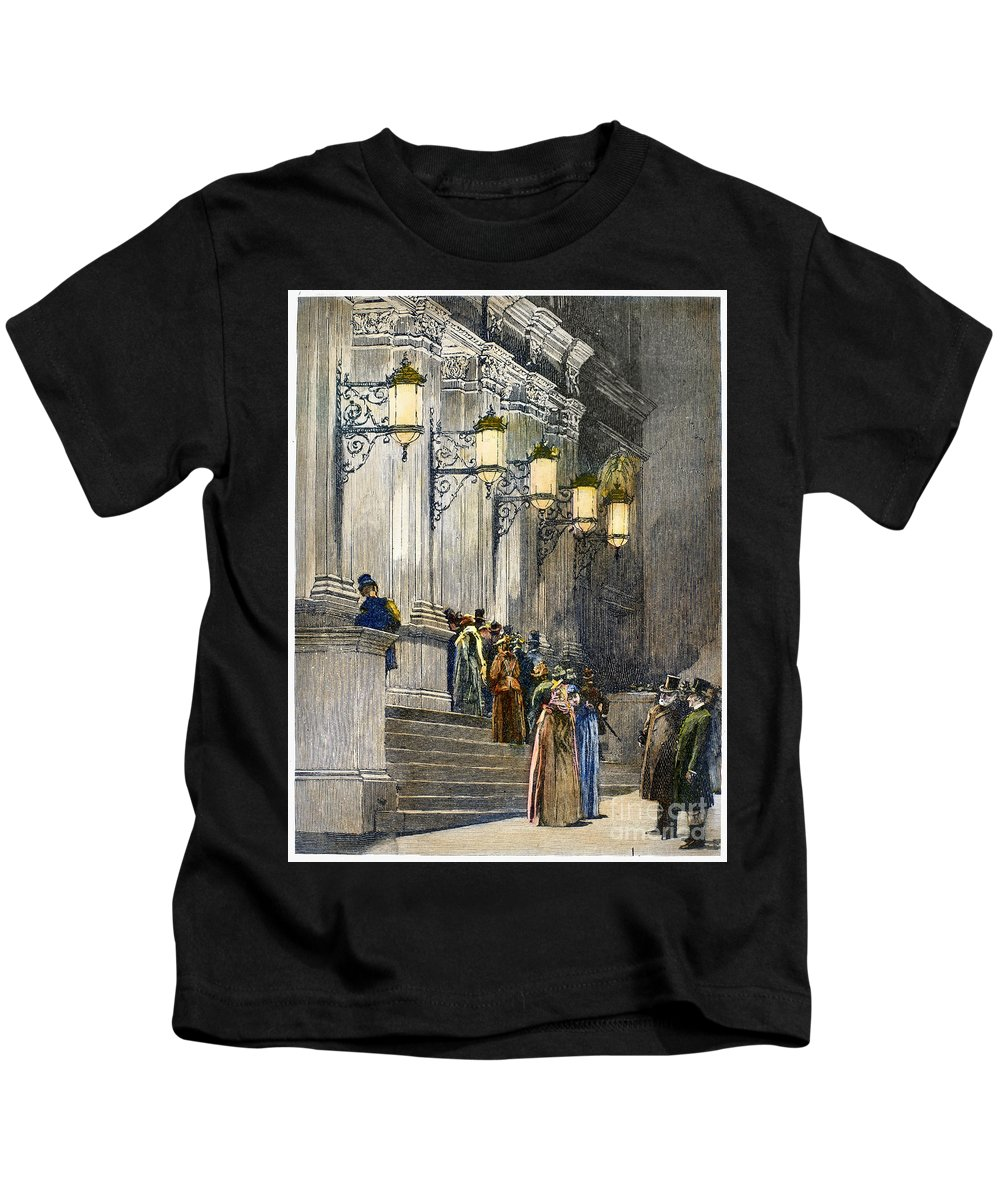 1891 Kids T-Shirt featuring the photograph Carnegie Hall, 1891 by Granger
