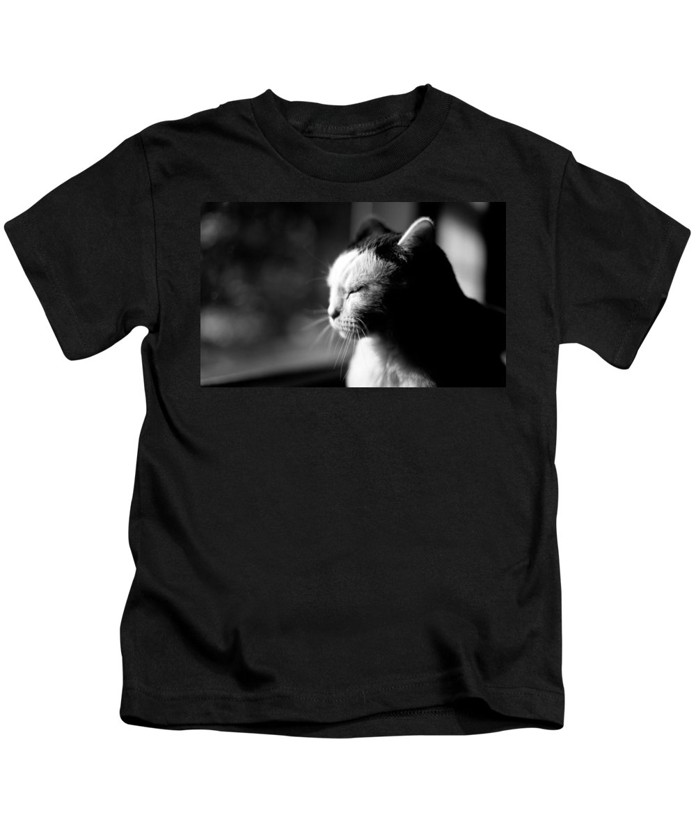 Cat Kids T-Shirt featuring the photograph Cat Portrait by Sumit Mehndiratta