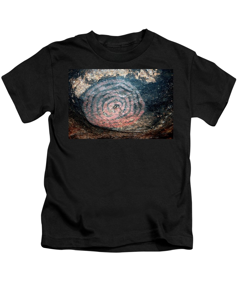 Uluru Kids T-Shirt featuring the photograph Cave Painting At Uluru by Laurel Talabere