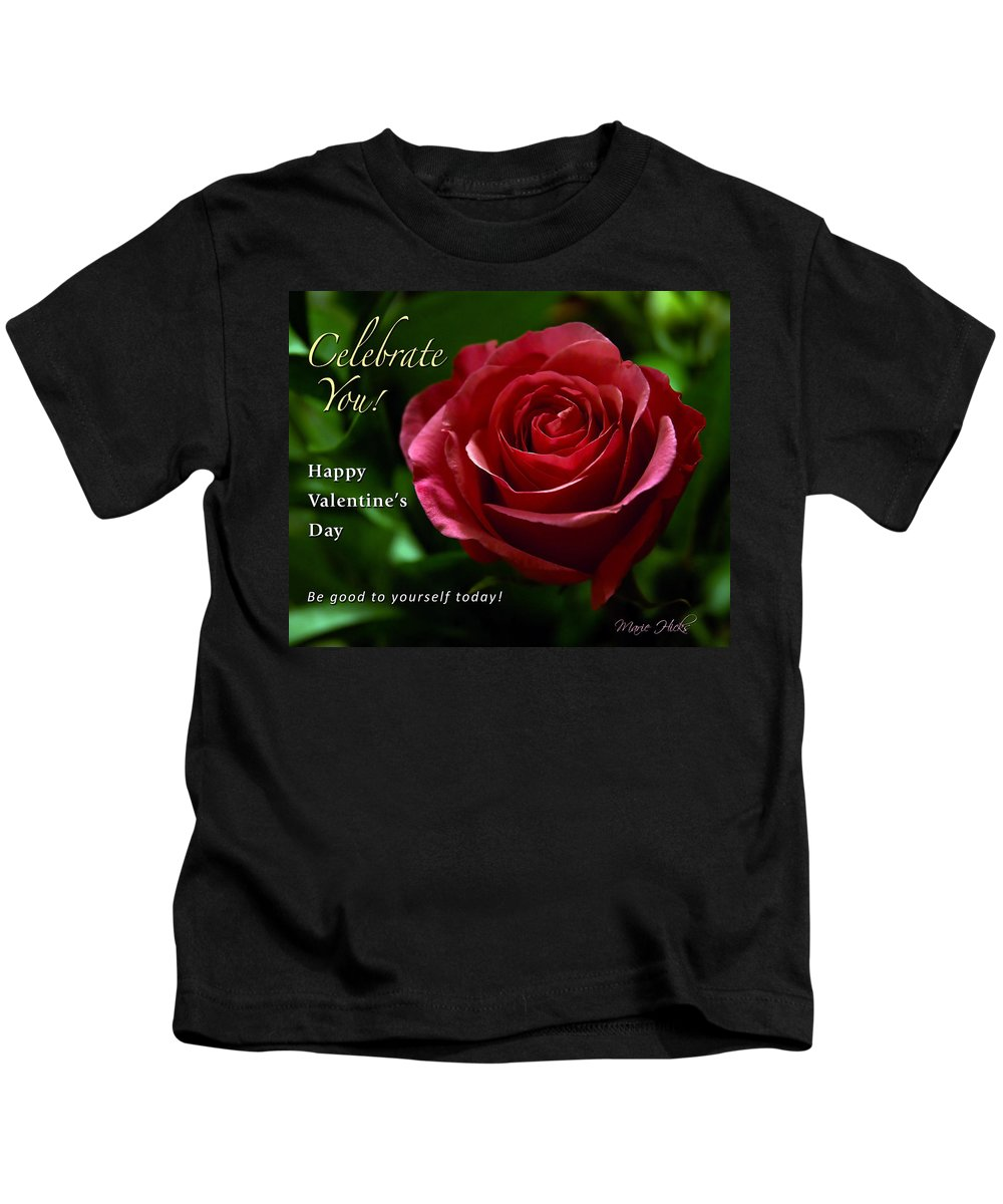 Red Kids T-Shirt featuring the photograph Celebrate You by Marie Hicks