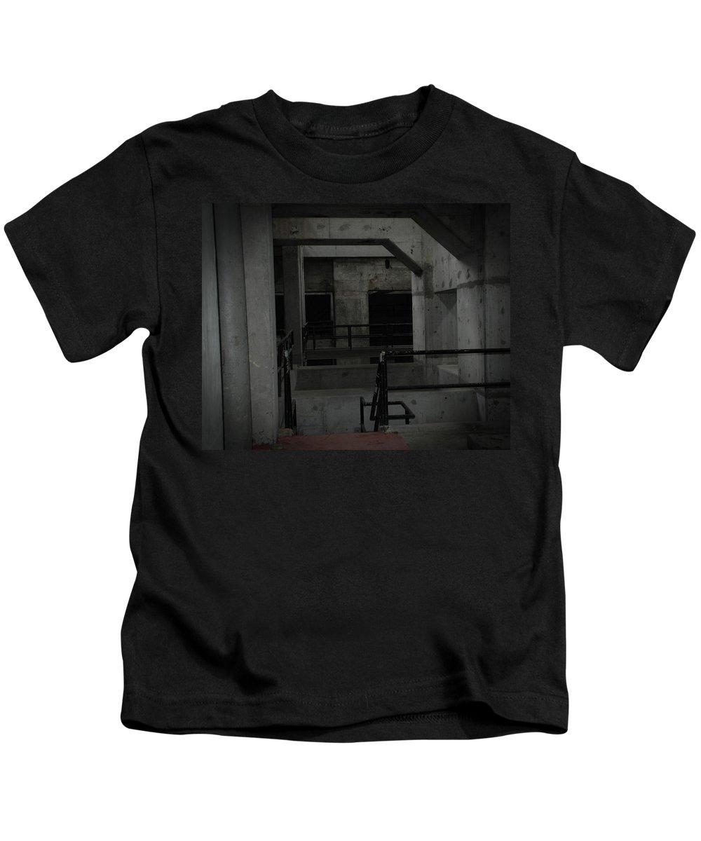Urban Exploration Kids T-Shirt featuring the photograph Cement Deco by April Davis