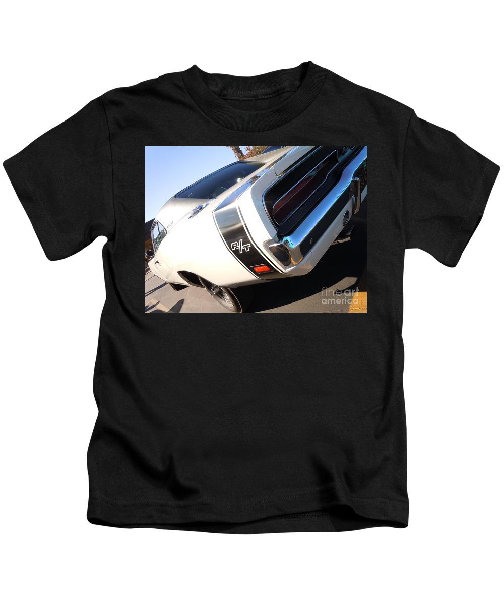 Dodge Kids T-Shirt featuring the photograph Charger Rt by Customikes Fun Photography and Film Aka K Mikael Wallin