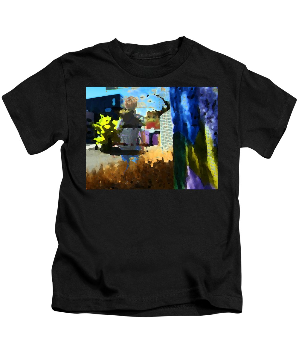 Abstract Kids T-Shirt featuring the photograph Childhood Of A Boy by Lenore Senior