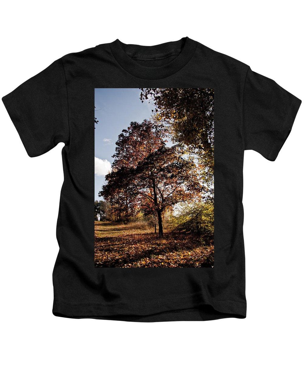 Autumn Kids T-Shirt featuring the photograph Chinbrook Meadows by Dawn OConnor