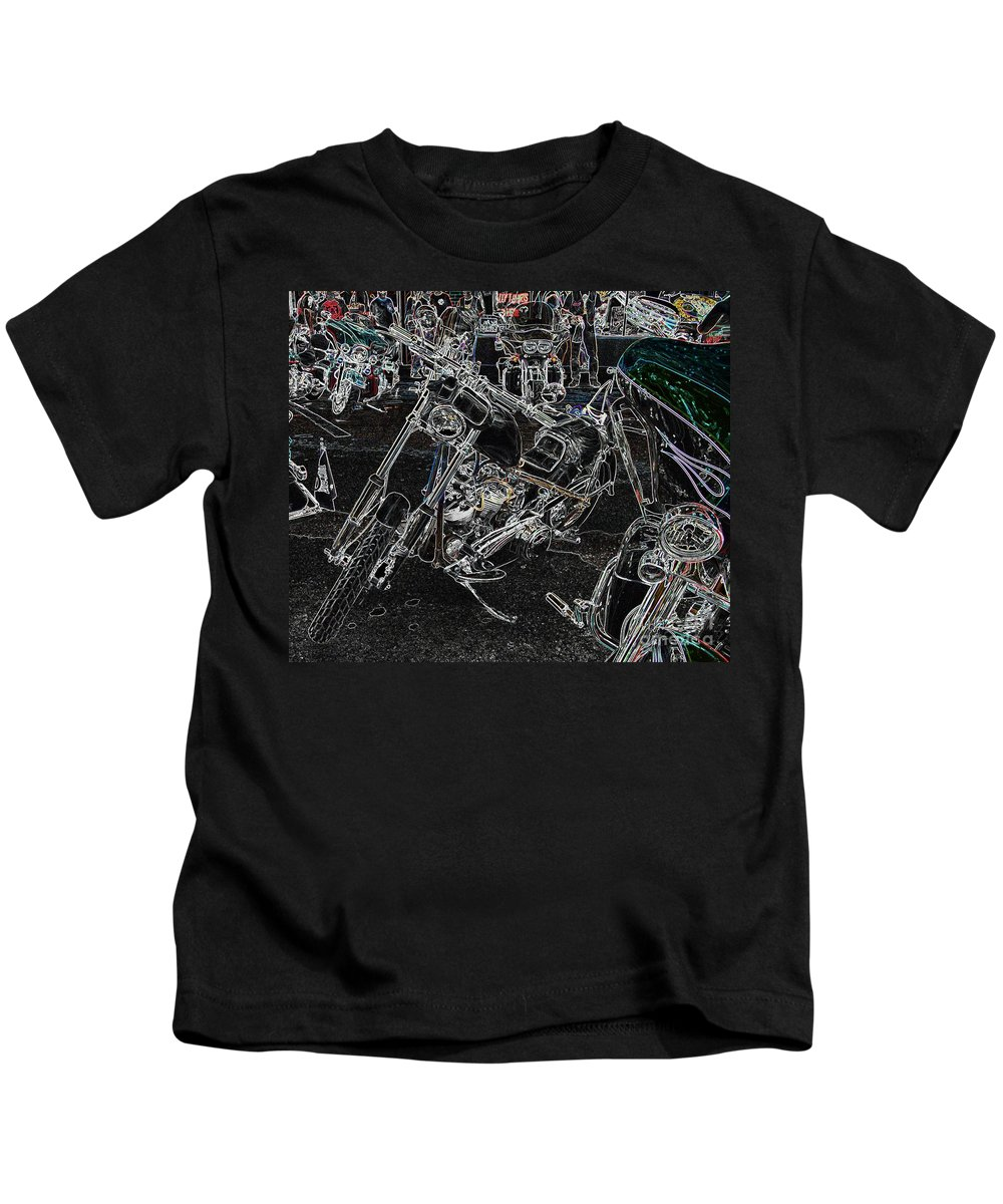 Motorcycle Kids T-Shirt featuring the photograph Chopp It Up by Anthony Wilkening
