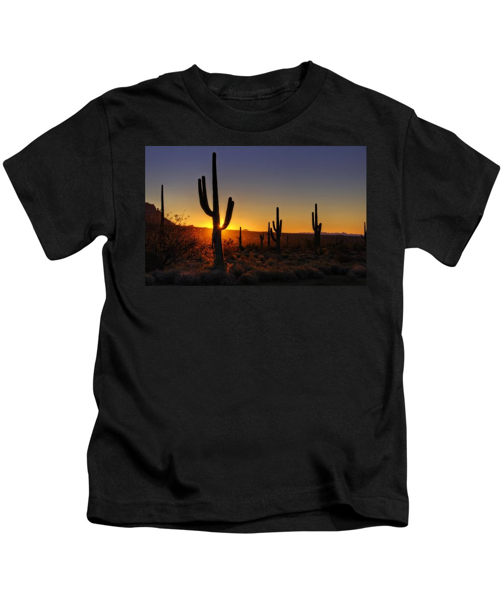 Sunrise Kids T-Shirt featuring the photograph Christmas Morning In Arizona by Saija Lehtonen