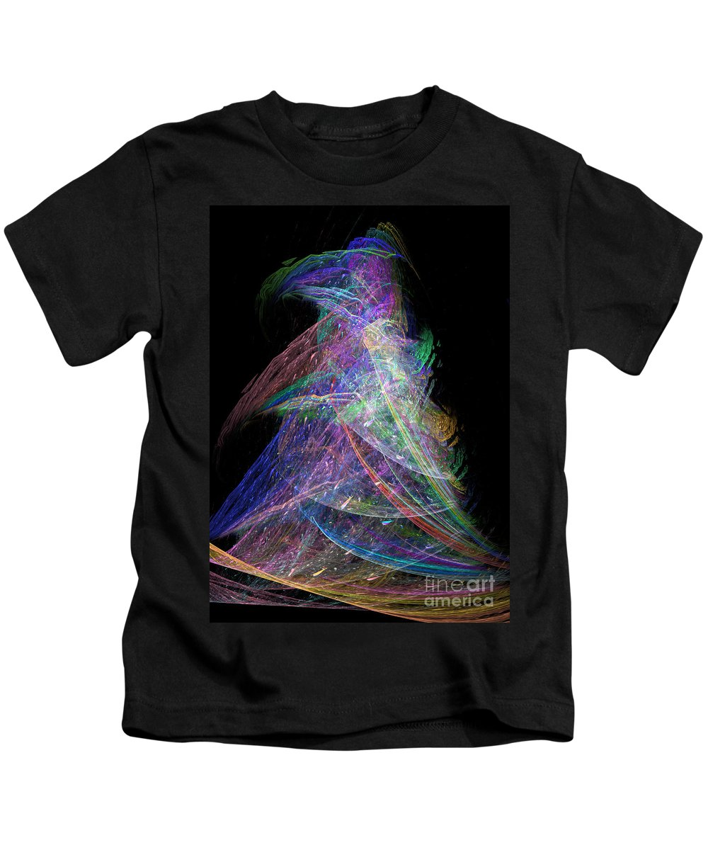 Abstract Kids T-Shirt featuring the digital art Christmas Tree 49b 29e by Russell Kightley