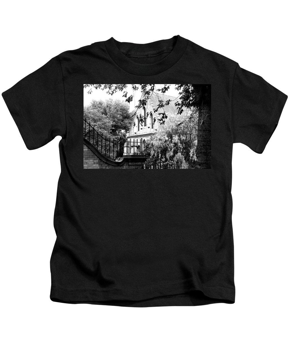 Dublin Kids T-Shirt featuring the photograph Church In Dublin by David Resnikoff