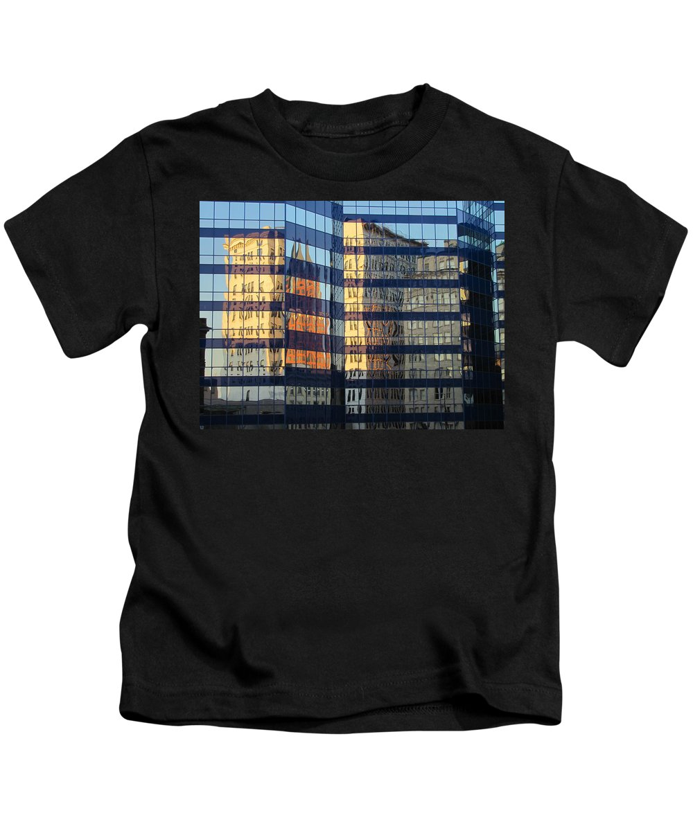 Milwaukee Kids T-Shirt featuring the photograph City Reflections 2 by Anita Burgermeister