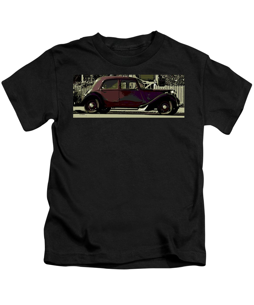 Citroen Kids T-Shirt featuring the photograph Classical French by George Pedro