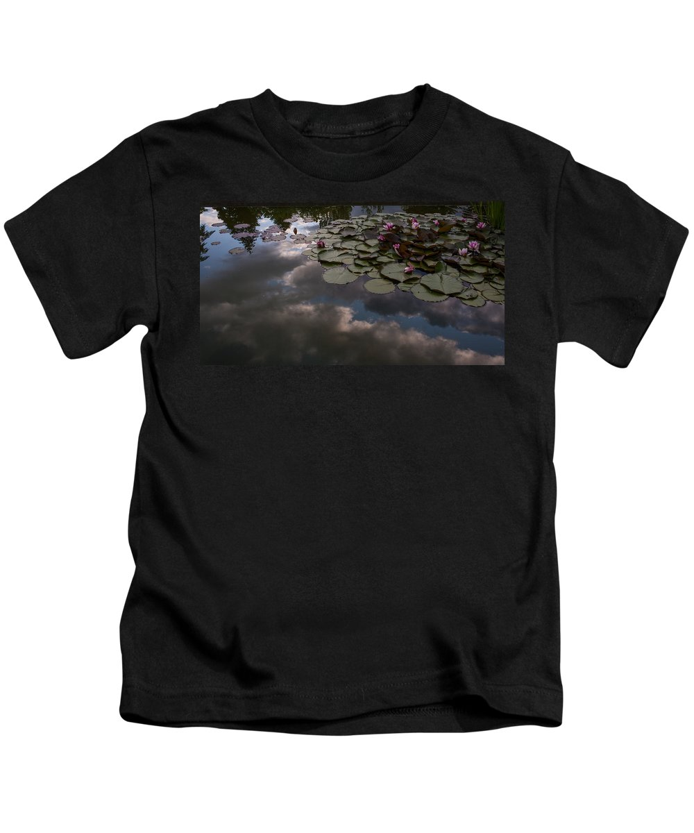 Pond Kids T-Shirt featuring the photograph Clouded Pond by Mike Reid