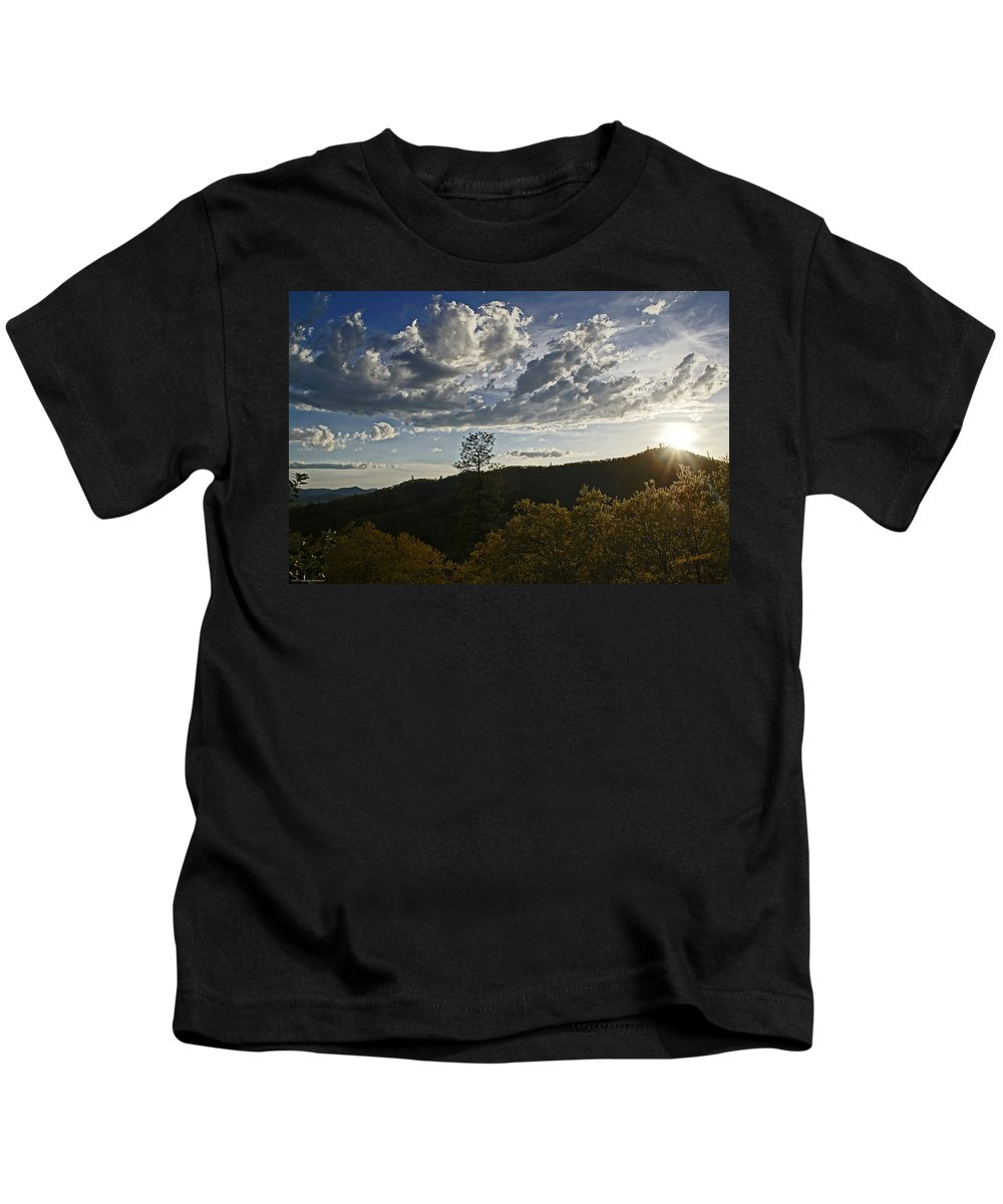 Clouds Kids T-Shirt featuring the photograph Clouds At Sunset II by Mick Anderson