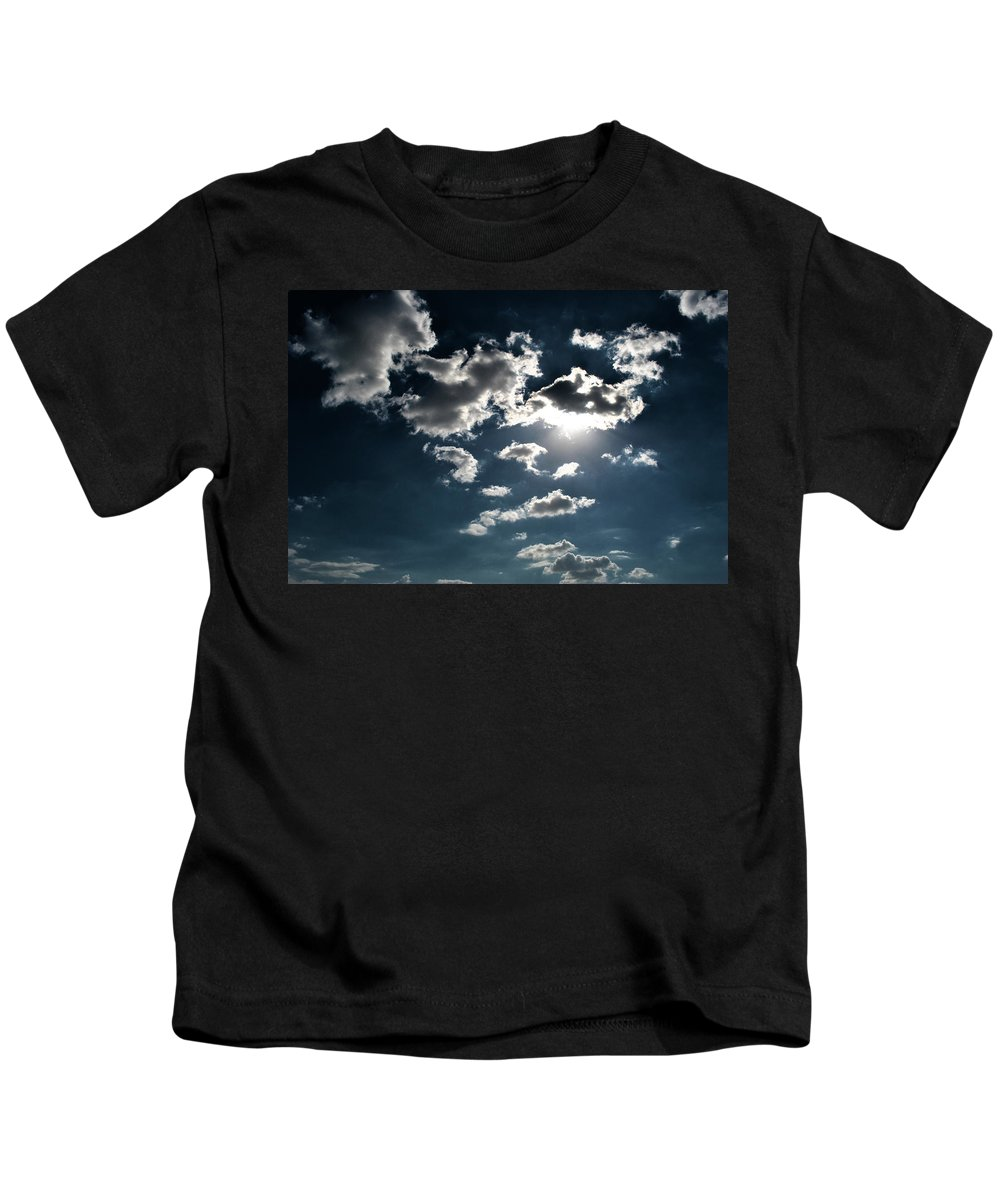 Clouds Kids T-Shirt featuring the photograph Clouds On A Sunny Day by Sumit Mehndiratta