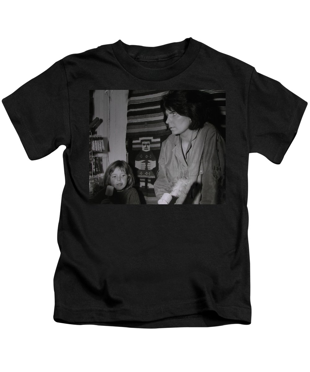 Colette Kids T-Shirt featuring the photograph Colette With Mamma Chris In Their Ice Kiosk In Denmark At The Time by Colette V Hera Guggenheim