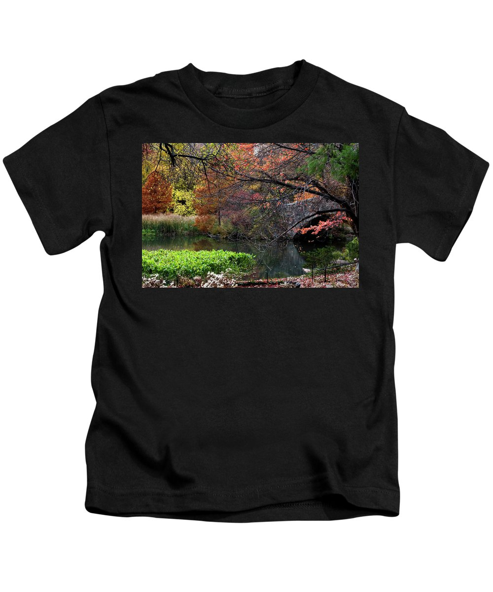 New York City Kids T-Shirt featuring the photograph Color Splash In Central Park by Lorraine Devon Wilke