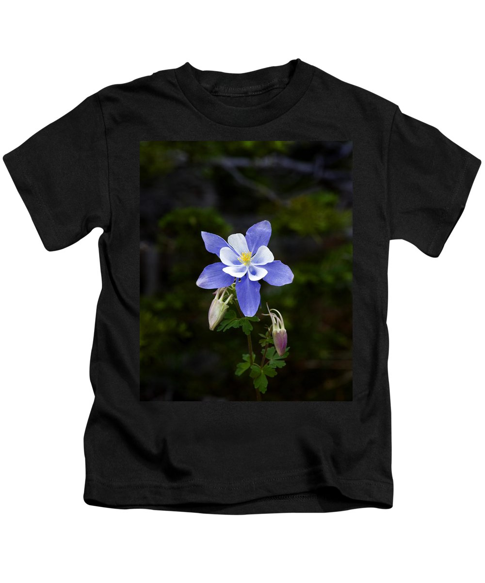 Wildflowers Kids T-Shirt featuring the photograph Columbine 3 by Rich Franco
