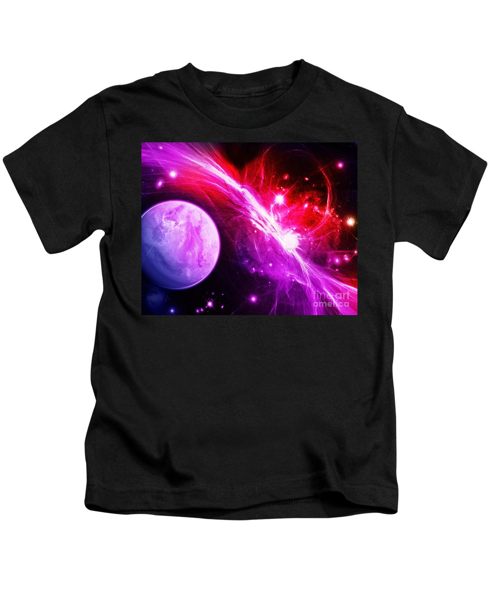 Kids T-Shirt featuring the digital art Cos 13 by Taylor Webb