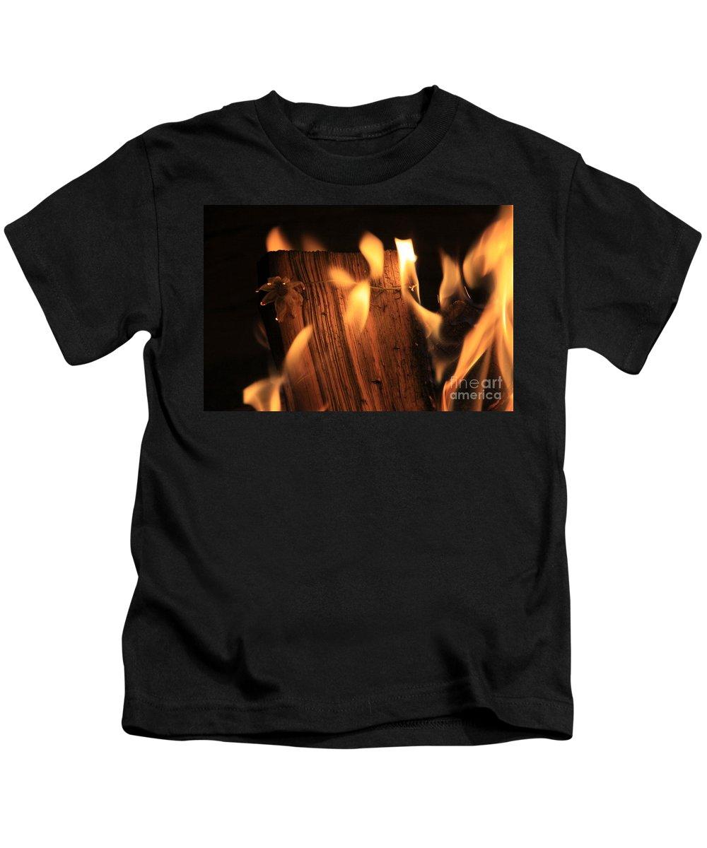 Fire Kids T-Shirt featuring the photograph Cosmic Fire by Dana Kern