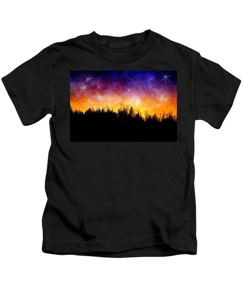 Night Kids T-Shirt featuring the photograph Cosmic Night by Ellen Heaverlo