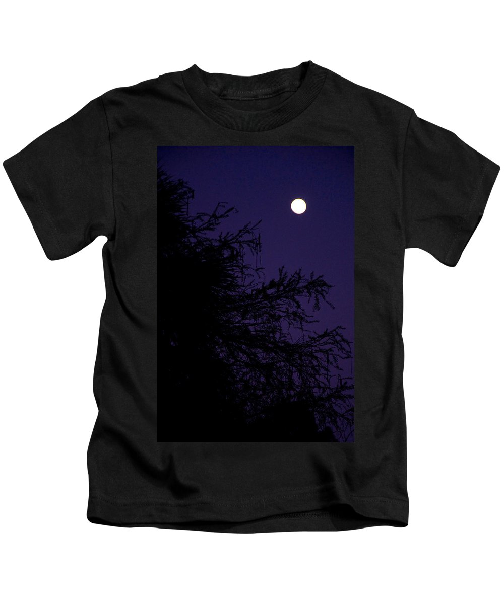 Moon Kids T-Shirt featuring the photograph Cypress Moon by Christine Stonebridge