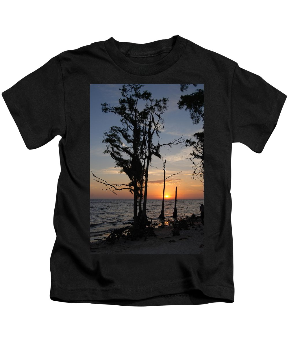 Cypress Kids T-Shirt featuring the photograph Cypress Sunset by Beth Gates-Sully